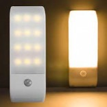 12 LED PIR Infrared Stick-on Rechargeable Wardrobe Night Light USB Motion Detector Induction Sensor Closet Corridor Lamp 5V Imported From USA