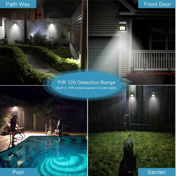 30 LEDS Solar Motion Sensor Light Super Bright Waterproof For Outdoor Imported From USA