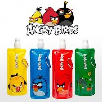 Angry Birds Sip It & Slip It. Anywhere! ONLY Rs.299 for a Set of 3 Safe Reusable Fold-able and Freezable Water Bottles.