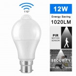 12W LED Bulb Pack Of 2, With PIR Motion Sensor AC220V 110V Sequrity Night Light For Corridor Aisle Stairs Balcony Warranda Lampada