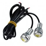 1 Pair DC 12V 23mm Eagle Eye LED Daytime Running Light-DRL Car Auto Lamp Yellow Cansoil -160,Imported From USA
