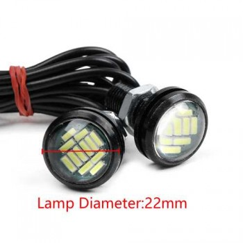 2PCS White 12V 15W Eagle Eye LED DRL Daytime Running Light -Genenic-0143, Imported From USA