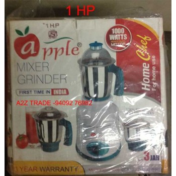 Apple-Fortune, 750-Watt Mixer Grinder with 4 Jars On Discount With Adjustable Slicer(Mrp Rs.799/-) Free,