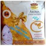 Gold Kit, Gold 24K Aroma Facial Kit-Crown-For Fairness, Glowing Complexion, Bright Skin, Beauty Product, Gold Face Pack, Buy 1 Get 1 Free