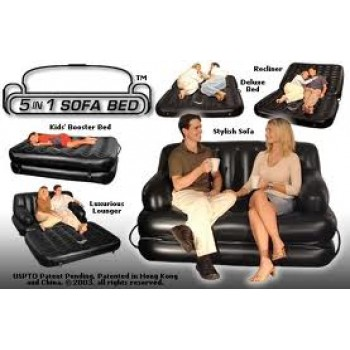AIR INFLATABLE SOFA BED 5 IN 1 WITH PUMP With Nazar Suraksha Kavach Free Worth Rs.6498/-