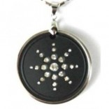 Quantum Science Scalar Energy Diamond Pendant With Ring +Cogent Mobile Chip