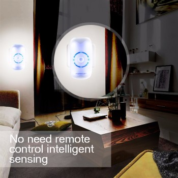 18 LEDs Body Motion Sensing Bright Night Lighting Auto Human Induction Sensor Lamp Lights US EU PLUG Imported From USA