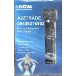 Nova NS-3772-TC Gents Electric Chargeable Hair Clipper@60%+Scalier Pendent Free