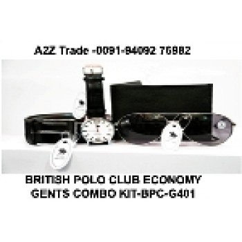 British Polo Club Economy Gents Combo Kit-BPC- G401,Watch, Belt, Sunglass & Wallet Seen On TV