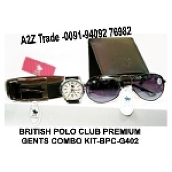 British Polo Club Premium Gents Combo Kit-BPC- G402,Watch, Belt, Sunglass & Wallet Seen On TV