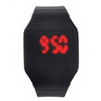 LED Colorful Digital Touch Screen Date Time Silicone Sport Wrist Watch-Unisex on 50% Discount