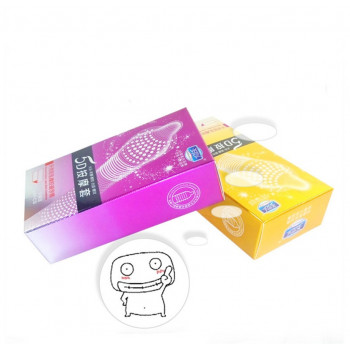12PCS 5D Dotted Thread Ribbed Latex Spike Imported Condoms for Men With Imported Reusable Penis Extender Sleeves Free