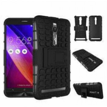 TPU PC Hybrid Shock Cover Case For Asus Zenfone-2, Size-5.5 Inch With Stand On Discount