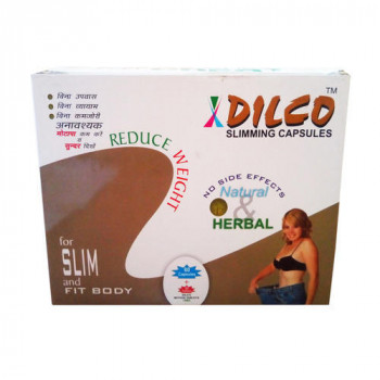 Dilco Herbal Capsules And Tablet Kit 2 Months On Discount Full Course To Reduce Weight 10 Kg In 2 Months