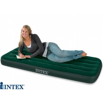 ORIGINAL INTEX-68757 AIRBED, MATTRESS WITH FREE MANUAL AIR PUMP On 56% Discounted Rate SEEN ON TV PRICE Rs.6290/-