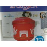 Electric Rice Cooker 1.8L-FOR Modern Kitchen @ 50% Discount with Free Aluma Wallet