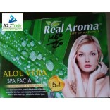 Real Aroma Aloe Vera Facial Kit 5 in 1 Facial Kit, 160gm.