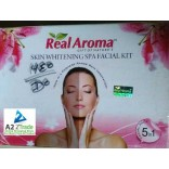 Real Aroma Skin Whitening Facial Kit,(Pack of 5)-160gm.