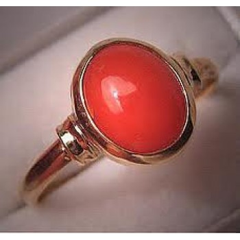 Munga-Coral Gemstone-Ring And Pendent -MRP Price - 5 1/4 Ratti Ring/Pendent:Rs.2999.00