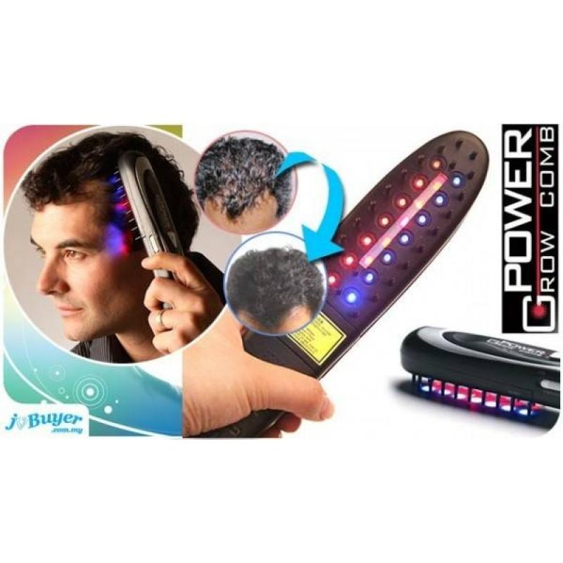 Usb Charging Red Light Photon Rf Ems Vibrating Laser B Hair Regrowth Stimulate Treatment Brush Mage Beauty