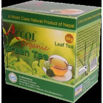 ACCOL Organic Green Tea-50 Bags,Original, Imported From Nepal,