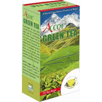 ACCOL Organic Green Tea Leaf 200 Gm, Imported From Nepal,