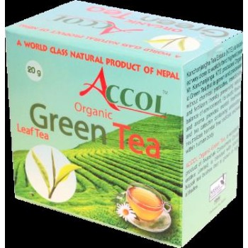 ACCOL Organic Green Tea Leaf 40 Gm4, Original,imported From Nepal,