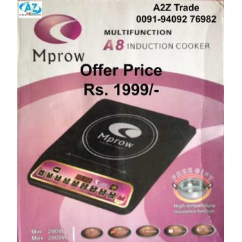 MPROW Induction Cooker With Free Cooking Pot- FOR Modern Kitchen & Modern Kitchen Queen