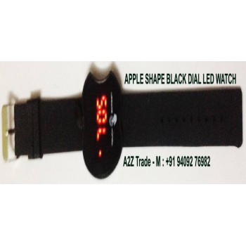 Apple Shape Face Mirror LED Watch, Apple Shape Led Watch On Discount, Imported