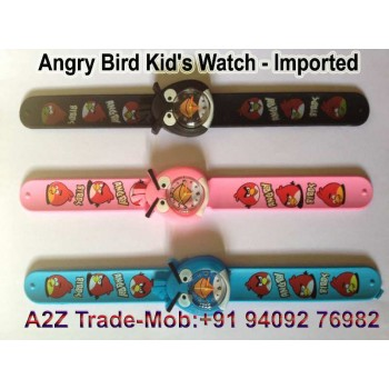 Angry Bird Unisex Kids Slap On Wrist Watch for Only $9.99 + Shipping for Everyone!,Cartoon Angry Bird Unisex slap watch Kids Girls Boys Quartz Wrist Watches