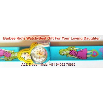 Kids Slap On Wrist Watch for Only $9.99 + Shipping for Everyone!,Cartoon Barbie slap watch Children Kids Girls Students Quartz Wrist Watches,