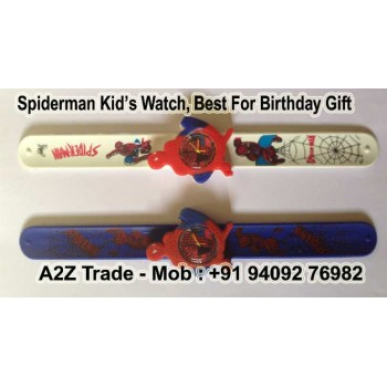 Spiderman Boys Kids Slap On Wrist Watch for Only $9.99 + Shipping for Everyone!,Cartoon spiderman slap watch Children Kids Girls Boys Students Quartz Wrist Watches,