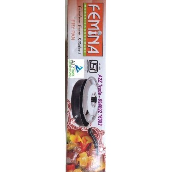 Femina 2.6MM Non Stick (260mm) Fry Pan-ISI With Stainless Steel Slicer, On Discounted Price,