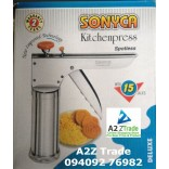 Kitchen Press-Sev Sancha-Stainless Steel With 15 Jalies & Pizza Cutter On Discounted Price