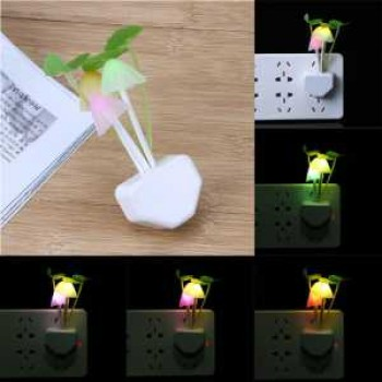 Mushroom Indoor Night Light With Auto(Day-Night) Sensor-Induction LED Wall Lamp,Colorful, Small, Portable Energy Saving Light 220V,