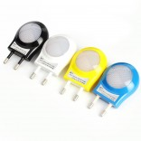 LED Night Light Bedroom Lamp Portable-0.7W With Auto Sensor,EU Plug 100V-240V,