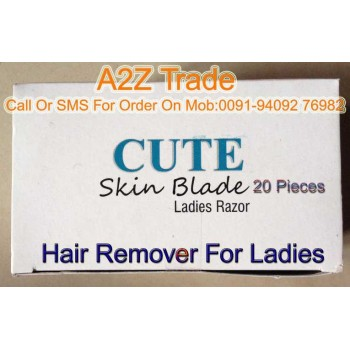 Cute Skin Ladies Skin Razor Seduces Your Skin With an Easy Glide- 20 Pcs Pack On Discount Price, With Bi Feather King-MRP 699 Free, Offer Price Rs.499/-