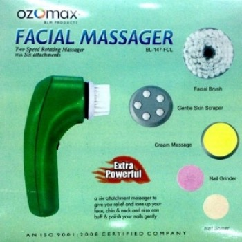 Facial Massager-Extra Powerfull With 6 Attachment, MrpRs.1999/- On 50% Discount With Quantium Sience Scaler Pendent(Mrp Rs.999/-) Free ,