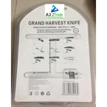 12 in 1 Multi FunctionalArmy Knife-Violate-Black-Grand Harvest-Imported