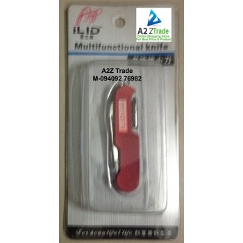5 in 1 Multi Functional Swiss Pocket Army Knife-ILID-Red Colour-Imported At Rs.349 Only