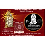 Shri Hanuman Kavach-Original & Shri Hanuman Mantra in The World's Smallest Hanuman Pendant, (Mrp:Rs.4900.00+Rs.250/-Shipping) on 50% Discount, Seen On TV,