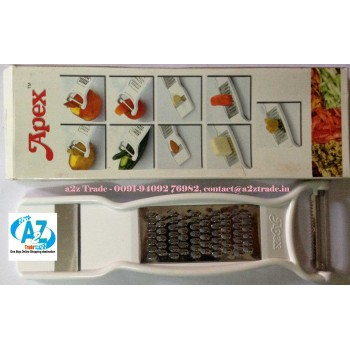 "Apex"" 4 in 1 Slicer With Sharp Blades & 3 in 1 Peeler , Grater , Dry Fruit Slicer First Time in India"