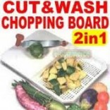 Action Cut N Wash Chopping Board With Fixed Knife And Apex 3 In 1 Slicer, Grater, Peeler Free