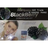 Real Aroma BlackBerry Ultra Facial Kit, 5 in 1 Facial Kit, Black Berry Ultra Facial Kit With 24ct Gold Kit Free, On 50% Discount