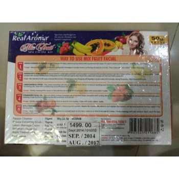 Real Aroma Mix Fruit Spa Facial Kit, 5 in 1 Facial Kit, Gives Radiant Complexion With 24ct Gold Kit Free, On 50% Discount