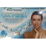 Real Aroma Oxygen Spa Facial Kit, 5 in 1 Facial Kit, Oxygen Facial Kit With 24ct Gold Kit Free, On 50% Discount
