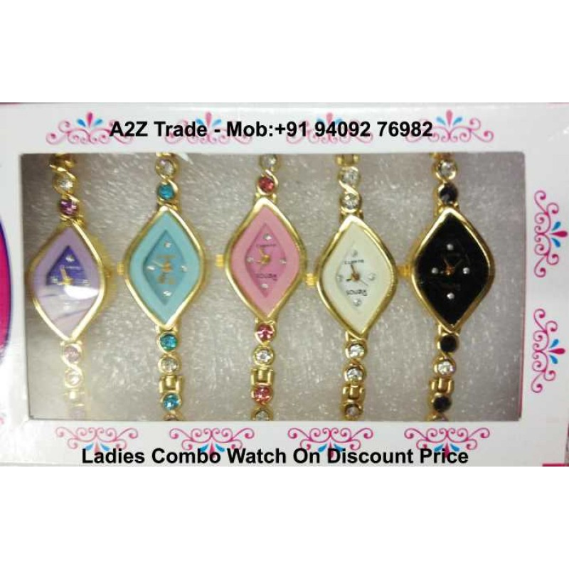 Pack Of 5 Renox Ladies Stylish Wrist Watch 12 Design On 60 Discount Price Imported