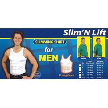 Men's Slim N Lift Body Shaper –XL ,Buy 1 Get 1 Free @50% Off+ Aluma Wallet Free