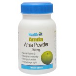 HealthVit AMDA Amla powder 250 mg 60 Capsules -Each Pack, Total 2 Packs, Total 120 Tablet, On Discount Price, WCEAN0033