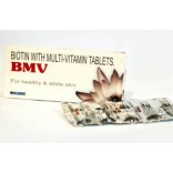 BMV Biotin Multivitamin 30 Tablets For Hair, Skin & Nails On Discount, 2 Packs(60 Tablets)
